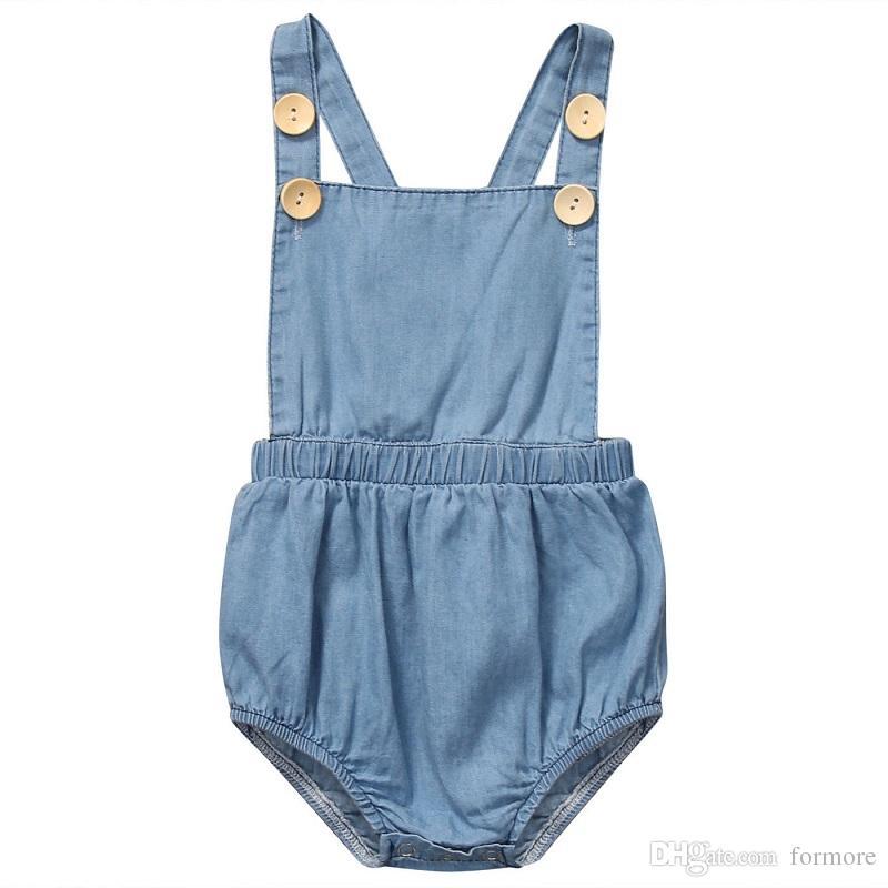 Neonata infantile boutique Abbigliamento denim pagliaccetto top pagliaccetto Playsuit caramella onesies Grembiuli Body porno tuta abbigliamento posh