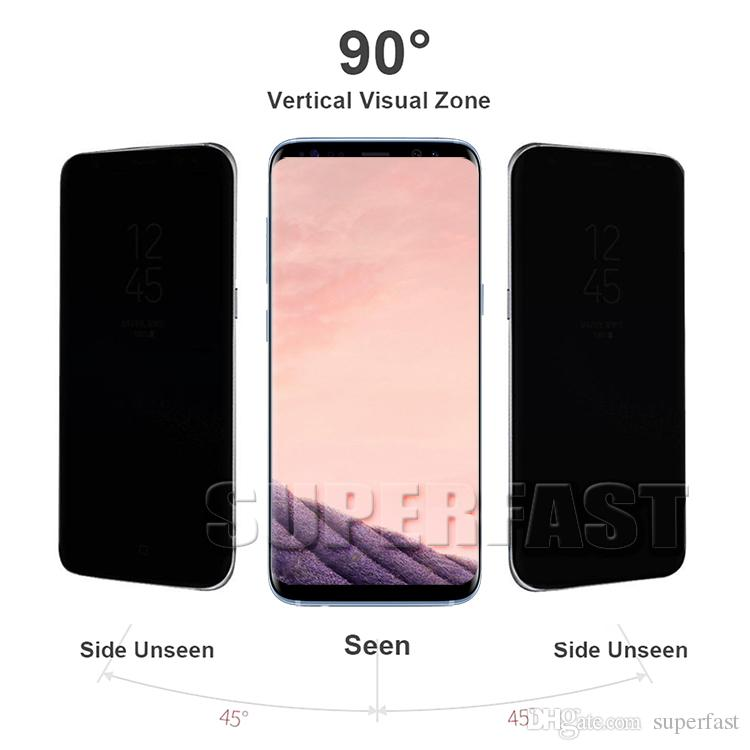 Case Friendly Privacy Tempered Glass Anti-Spy Peeping Screen Protector 3D Curved For Samsung Note9 Samung note8 S8 S9 Plus S7 edge With Box