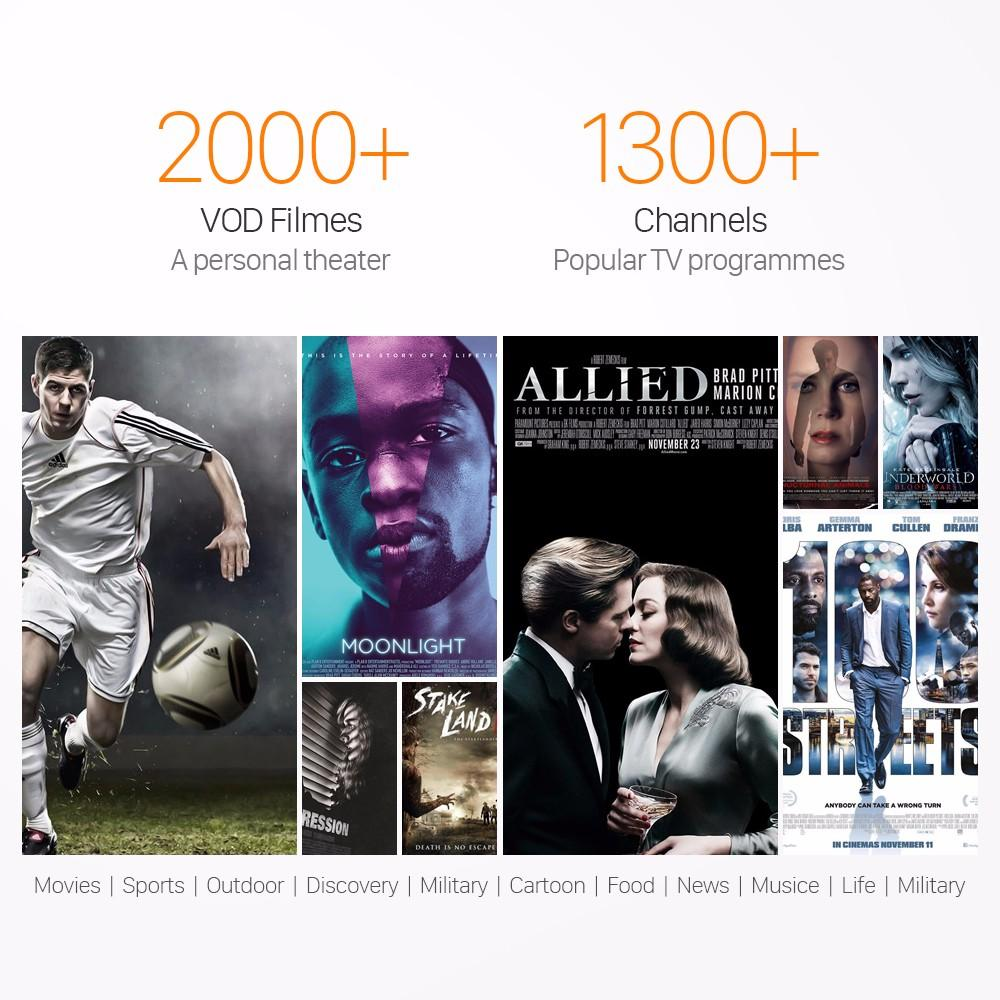 2000+ film VOD Arabo Sport Francese UK DE QHDTV 1 anno 1300+ Europa Streaming IPTV Account Apk Android mag250 / 254 Enigma2 m3u MXQpro