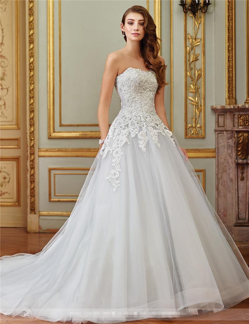 Großhandel Vestidos De Novia China Brautkleider Eine Linie Tulle ...