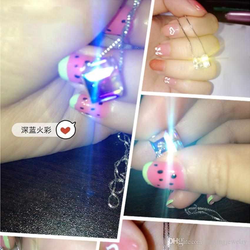 Hot New 925 Sterling Silver Colorful Cube Crystal Pendant Necklaces Sterling Silver Chain Statement Necklace Fashion Jewelry