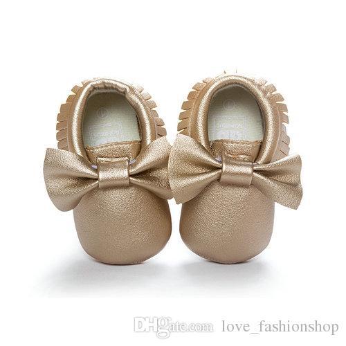 19 ألوان الطفل أطفال أحذية الأخفاف لينة وحيد بو الجلود الأولى يسير دارى بنات أحذية prewalker القوس لينة أسفل شرابة طفل الأحذية