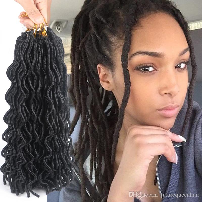 2018 Crochet Braid Wavy Faux Locs Hair 24 24roots
