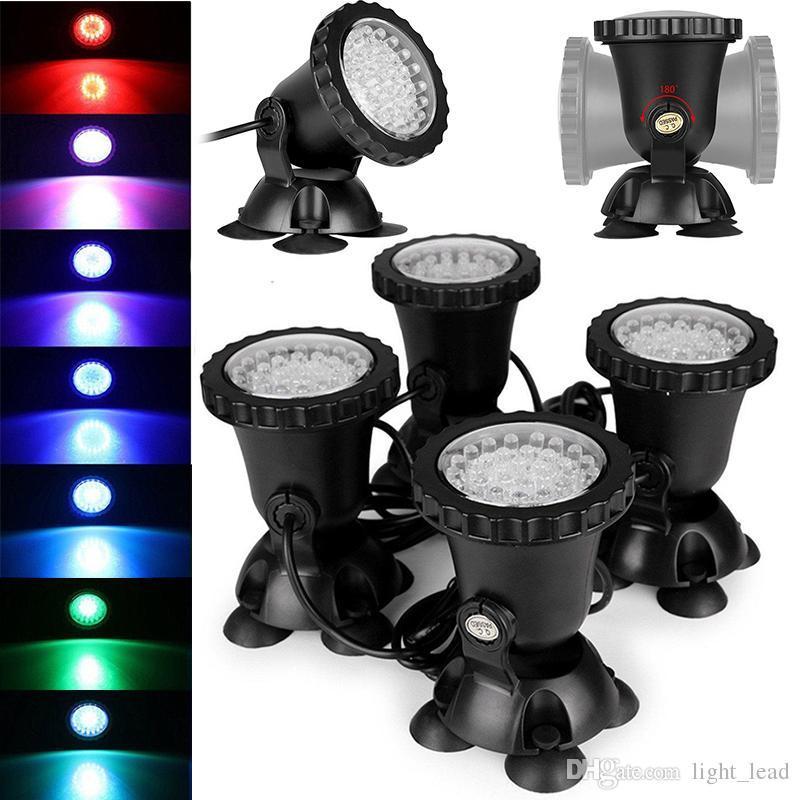 Led lumière sous-marine Led lumière sous-marine 4 * 36LEDs Étanche IP68 Fontaine Fontaine Piscine Lampe Éclairage Réservoir Eau Jardin Lumière