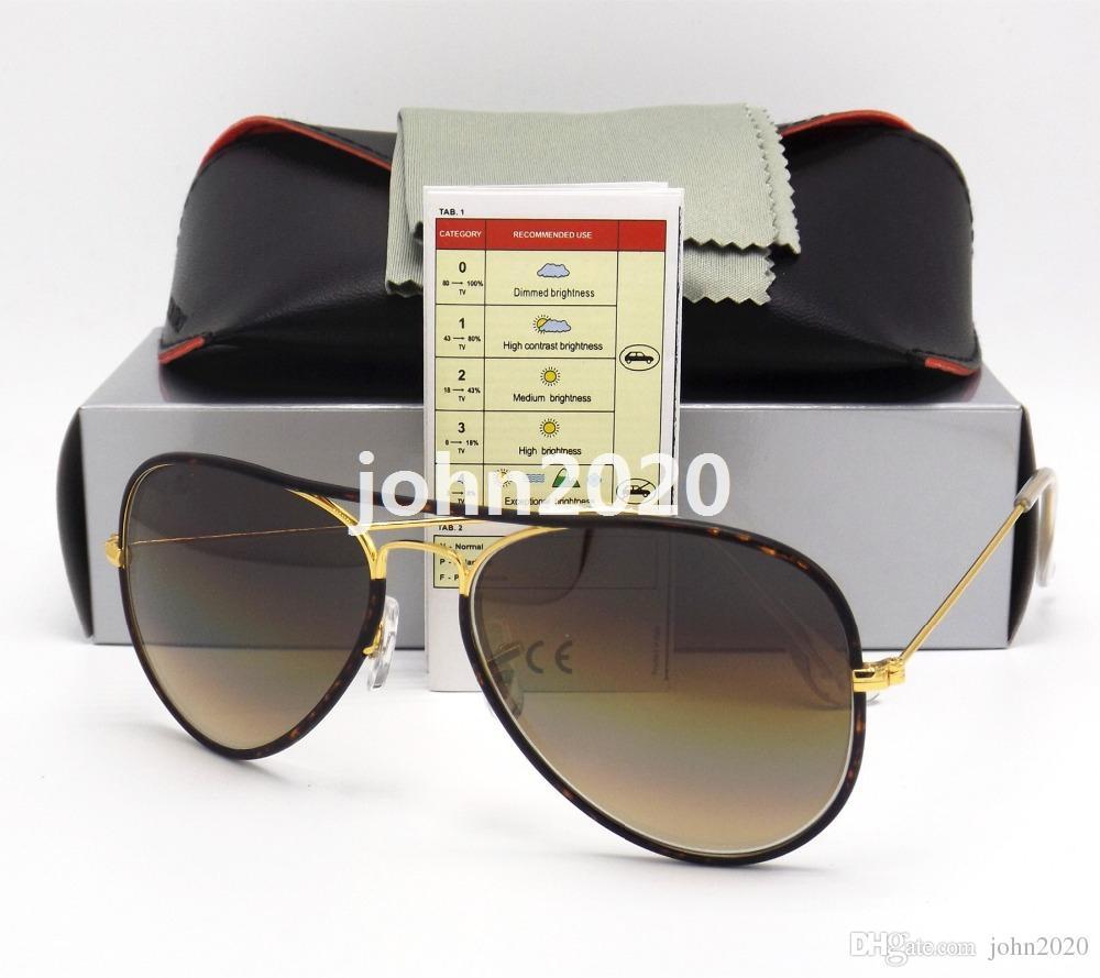 0c7f323ada57 Top Brand New Pilot Eyewear JM Sunglasses For Men Women Gradient Mirror Lens  Sun Glass With Glss Lens Original Package Super Sunglasses Victoria Beckham  ...