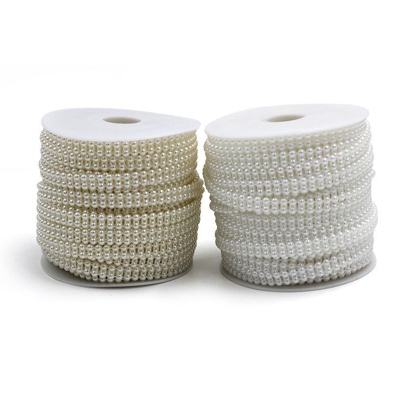 25mroll Wedding Decoration Centerpieces Supplies White Beige 4mm