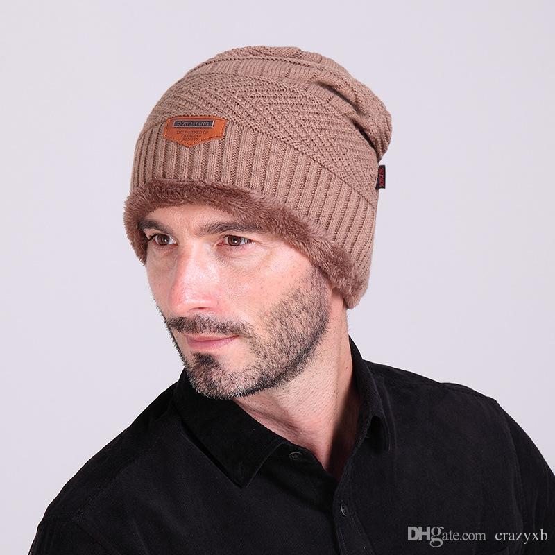 d498348563c 2018 Fashion Bonnet Gorros Caps For Men Women Thick Winter Beanie Men  Knitted Hat Warm Skullies   Beanies With Velvet KC014 Straw Hats Crochet Hat  From ...