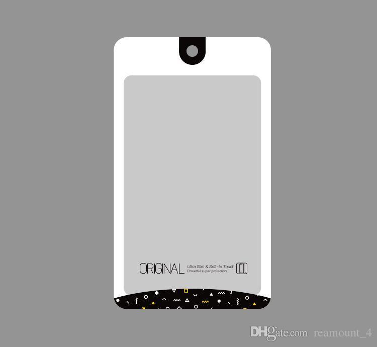 Toptan YENI Moda Zip kilit OPP PVC Çanta Şeffaf Çanta Ambalaj Galaxy S7 s7 için Plastik Çanta Telefon aksesuarları