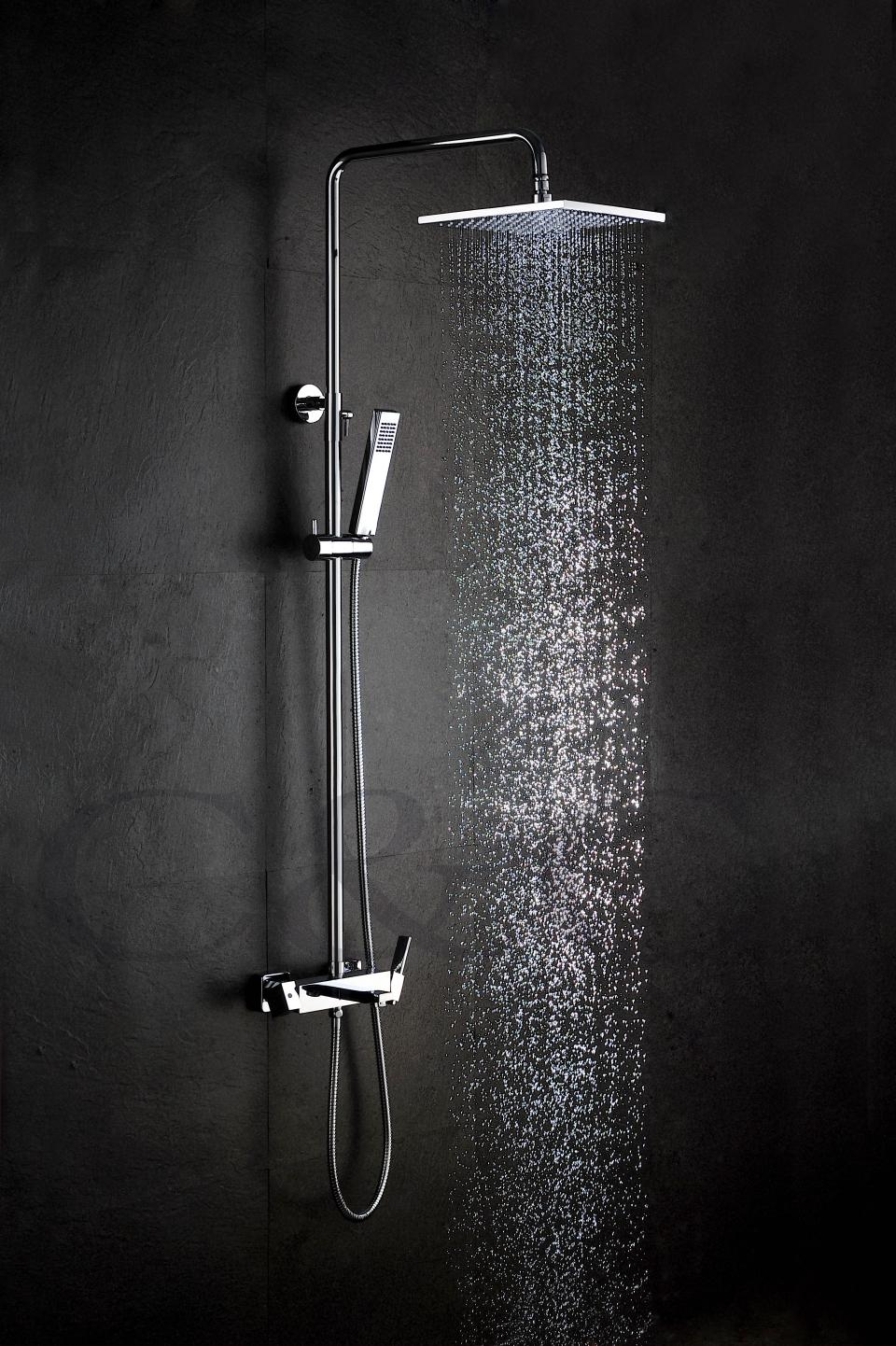 2018 10 Inch Air Saving Shower Head And Brass Bath Tub Spout Solid ...