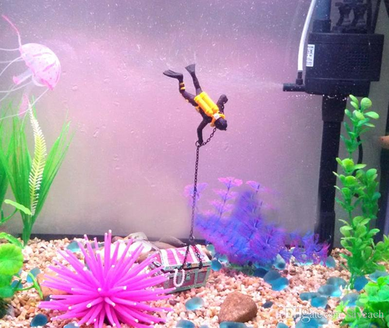 바다 - 보물 액션 수족관 장식 바다 세계 비밀 드라이버를 찾고 물고기 탱크 장식 조경 홈 인테리어 - 수족관 장식