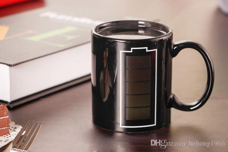 Mug Mug Cambiare colore Pubblicità Creativity Cup Energy Magic Mugs Ceramiche interessanti Bere tazze Personality High Quality Hot 8yr