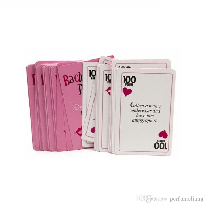 52 Card / 9x6x1 Cm Articoli addio al nubilato Articoli da regalo la sposa Matrimoni Festa di compleanno Bomboni Giochi Truth or Dare Poker ZA2991