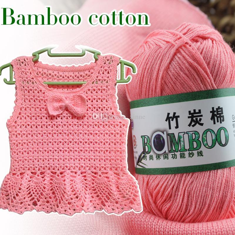 Baby Bamboo Yarn Soft Smooth Natural Bamboo Cotton Crochet Yarn Hand Knitting High Tenacity Baby Yarn Knitted by 2.25mm Needles Wool Thread