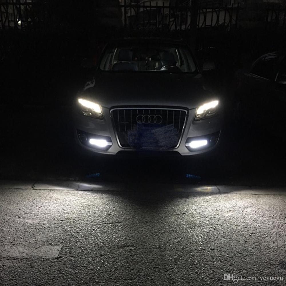 1 paio Car-styling DRL ABS Paraurti anteriore Luce corrente di giorno la luce di nebbia Covers maschere lampada misura Audi Q5 09-13