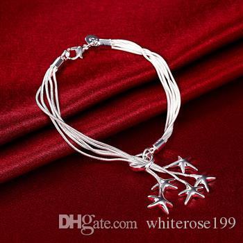 Großverkauf - Niedrigster Preis des Kleinhandels Weihnachtsgeschenk, freies Verschiffen, neues 925 silbernes Art und Weise Armband yB099