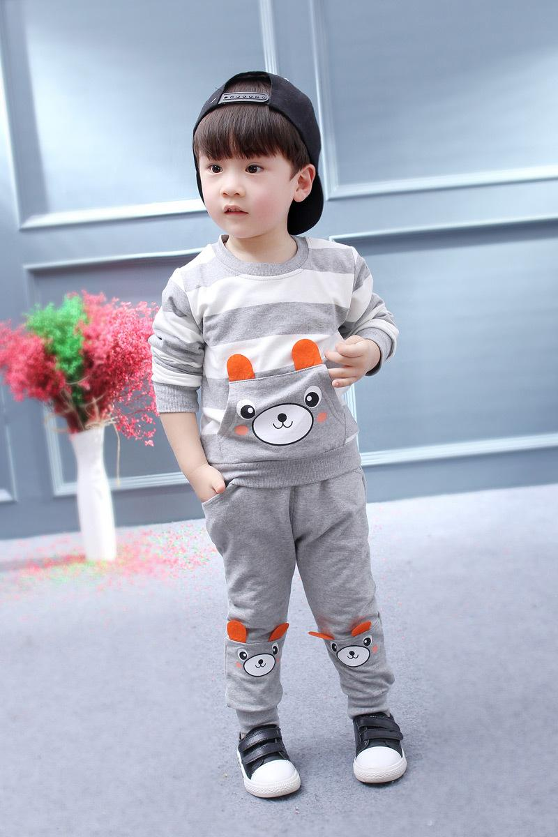 7d54ca7b599993 2017 children's suit spring and autumn children's long sleeves sweater  two-piece boys baby jacket 1-4 years old tide