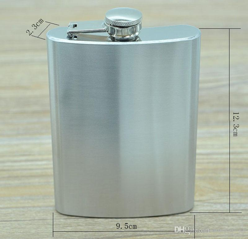 100% Edelstahl 6ounce Edelstahl Flachmann mit jedem Einzelhandel Black Box, keine Kunststoffabdeckung, Laserschweißen