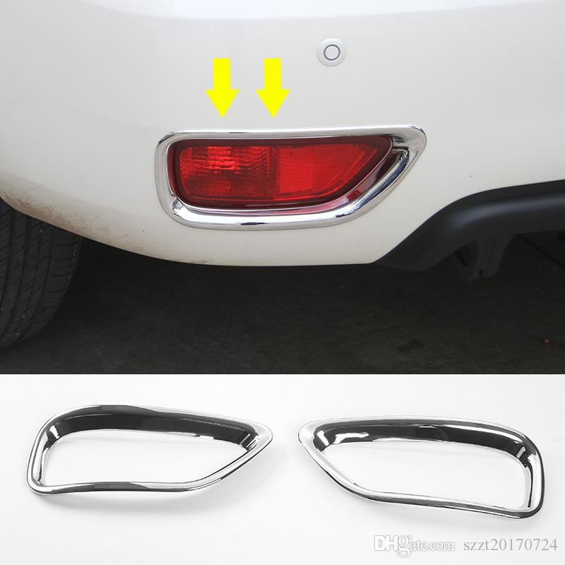 Rear Fog Lamp Decoration Cover Frame Trim Ring Car Exterior Accessories Fit For Nissan Patrol 2017 2PCS