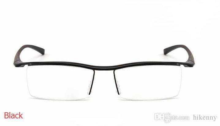 mens alloy and TR90 eye glass frames black or Silver color men eyeglasses sports half optical frame drop shipping cheap eyeglasses