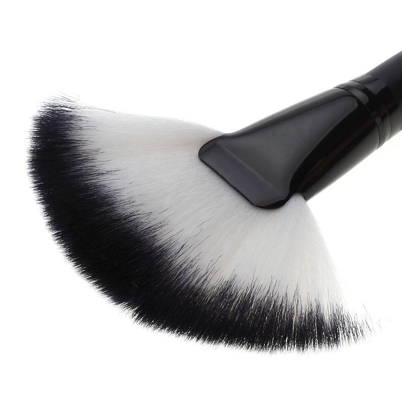 Yumuşak Makyaj büyük Fan Fırça Vakfı Allık Allık Pudra Fosforlu Fırça Toz temizleme fırçaları Kozmetik aracı