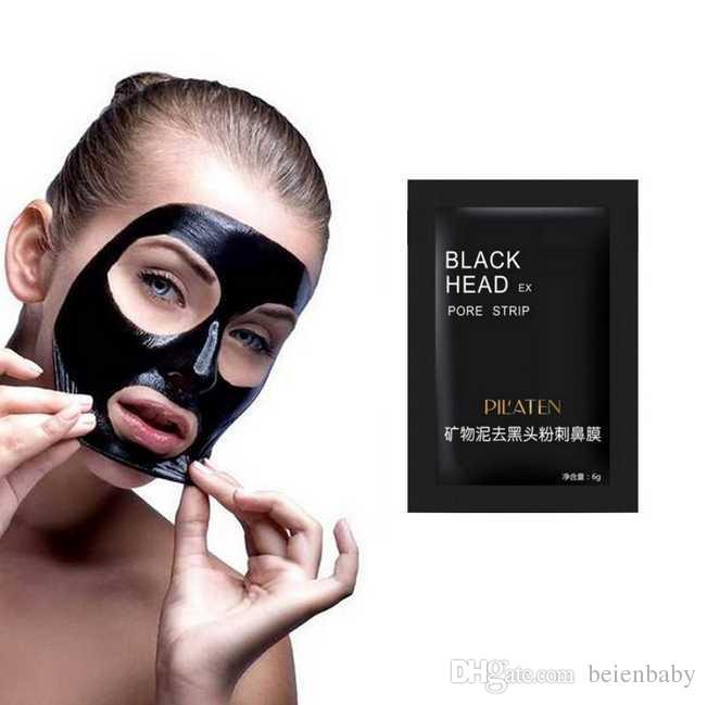 PILATEN 6g cara cuidado facial de la nariz Minerales Conk removedor de la espinilla Limpiador máscara de limpieza profunda EX Negro Cabeza de poro de Gaza