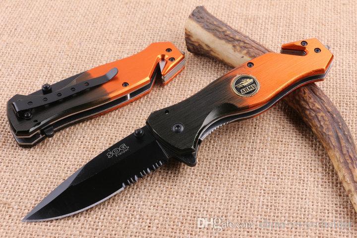 Utensili da taglio SOG EDC Coltello tascabile 5CR15MOV campeggio Coltello pieghevole Lama serrata sopravvivenza coltelli tattici Regalo F921L