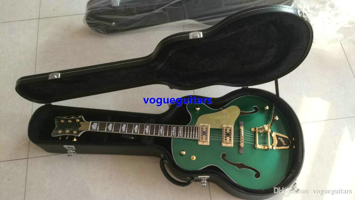 new Best Selling Green Hollow Jazz Guitar gold hardware Musical instruments