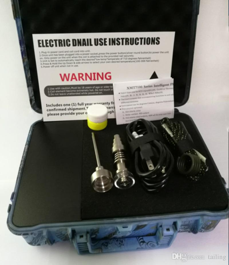 E barato prego Pelican elétrico dab unha ENAIL controlador de cera PID caixa TC com titânio 10/16/20 mm sem dom com titânio unhas
