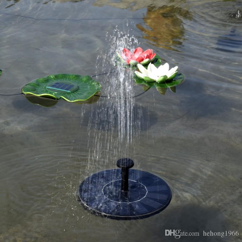 Float Runde Wasserpumpe Schwarz Miniatur Landschaft Solarpumpen Für Brunnen Pool Gartenpflanzen Bewässerung Kit Neue 45bs A