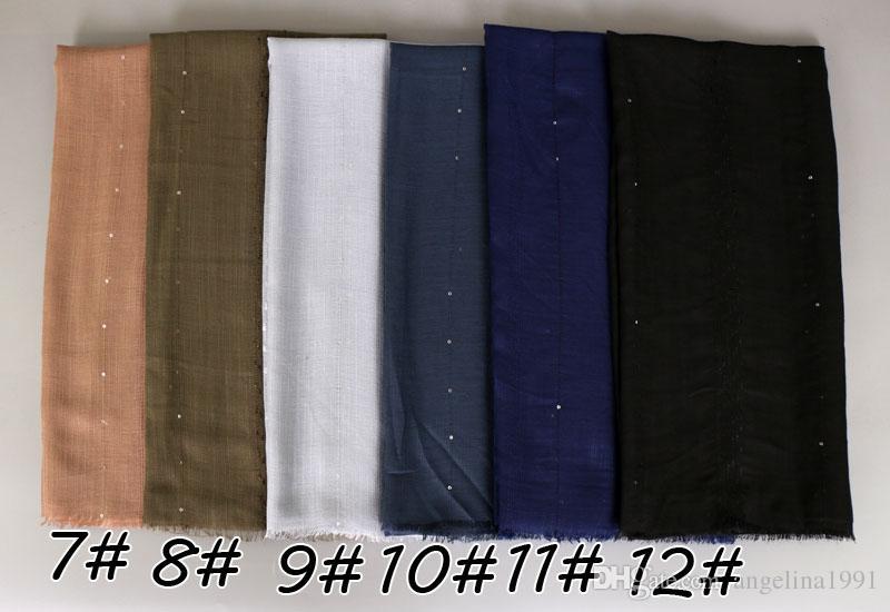 Popular design paillette plain viscose cotton glitter shawls hijab winter fashion shimmer muslim scarves/scarf 180*90cm