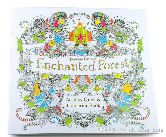 Coloring Books Educational Toys Enchanted Forest Fantasy Dream Secret Garden Kids Drawing Baby Kid Book Free Colouring From