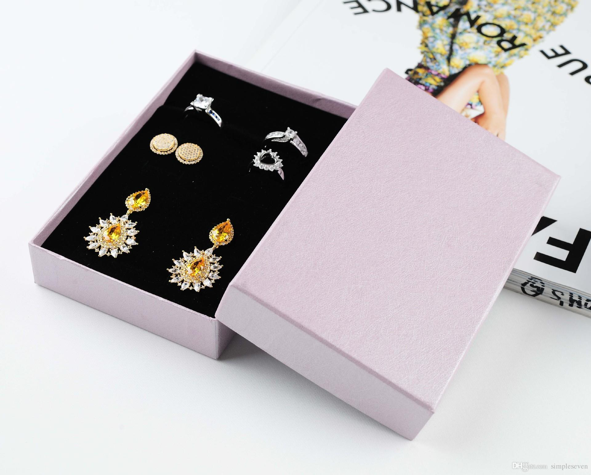 [Simple Seven] Classic Purple Specialty Stripe Paper Necklace Box,15*9.5*2.6cm Jewelry Packing,Trend Pedant Package,Gift Rings Carrying Case