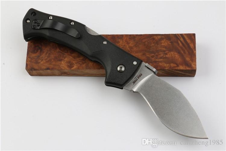 Kalte Stahl kleine Dogleg Outdoor taktische Klappmesser D2 Klinge Nylon Griff Überlebensmesser Utility Jagd Camping Messer