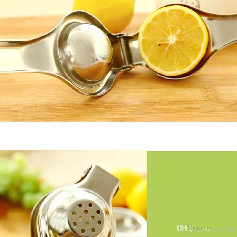New Stainless Steel Lemon Squeezer Reamers Manual Juicer Sturdy Lime Squeezer Anti-corrosive Fruit Vegetable Lime Fresh Juice Tools WX-C41