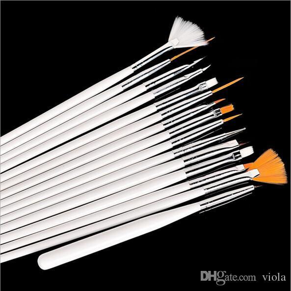 Make-upbürsten bilden Make-upbürsten-Berufsgelpoliermittel-Anstrich-Nagel-Blumen-Kunst-Stift, der Zeichen-Werkzeug für natürliche falsche Schönheit 3D punktet
