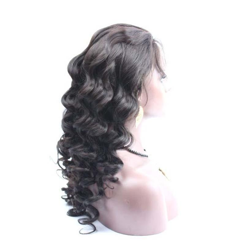 Свободная волна полный парик шнурка человеческих волос Glueless кружева фронт перуанские парики волос для черных женщин 7A высокое качество Бесплатная доставка