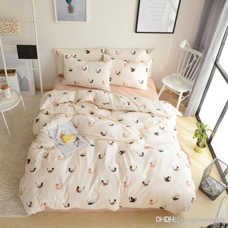 Elegant Floral Bedding Set 100% Cotton Bed Linen Sets Bedspreads Kids Twin  Size Blue Duvet Cover Bed Sheet Set Brief Bedding Sets COTTON BEDDING SETS  Floral ...