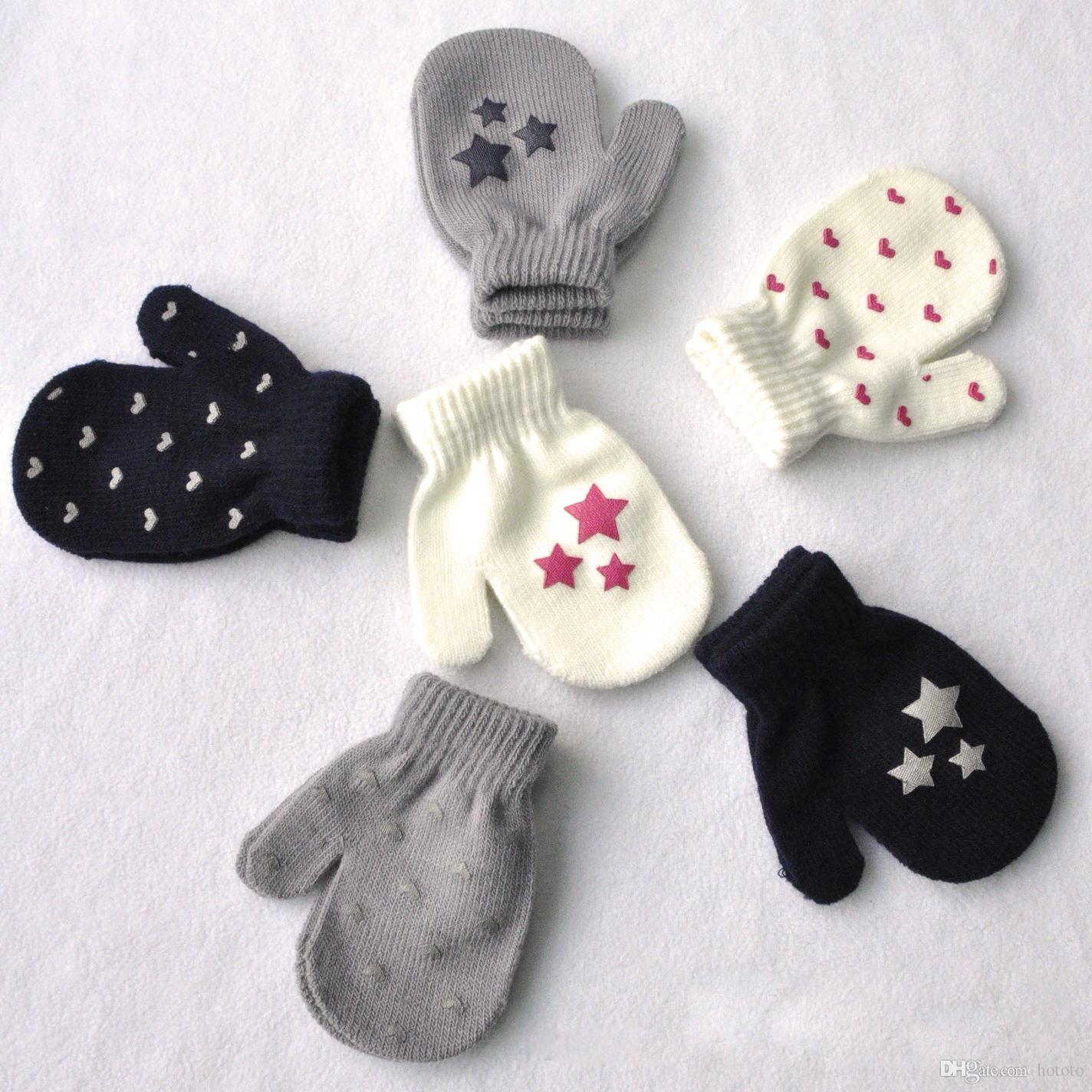 Compre Lovely Winter Autumn Baby Crochet Warm Glove 6 Single Patrón ...