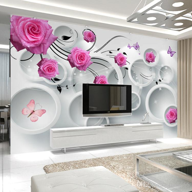 Painting Supplies & Wall Treatments Free Shipping Korean Romantic Little Floral Bedroom Pastoral Warm Living Room Sofa Background Wall Paper Wedding Room Wallpaper Available In Various Designs And Specifications For Your Selection