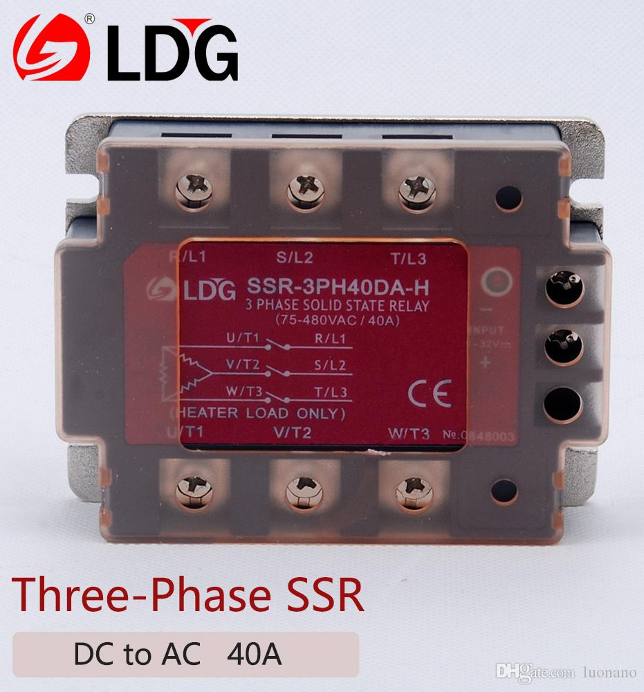2018 Ldg Three Phase Solid State Relay Module Ssr 3ph40da H Dc To Ac