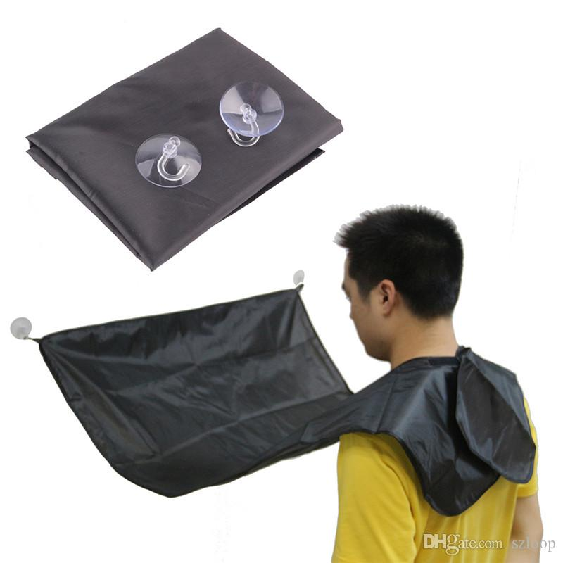 Man Bathroom Apron Black Beard Care Trimmer Hair Shave Apron for Man Waterproof Floral Cloth Household Cleaning Protections Hot Sale 0703083