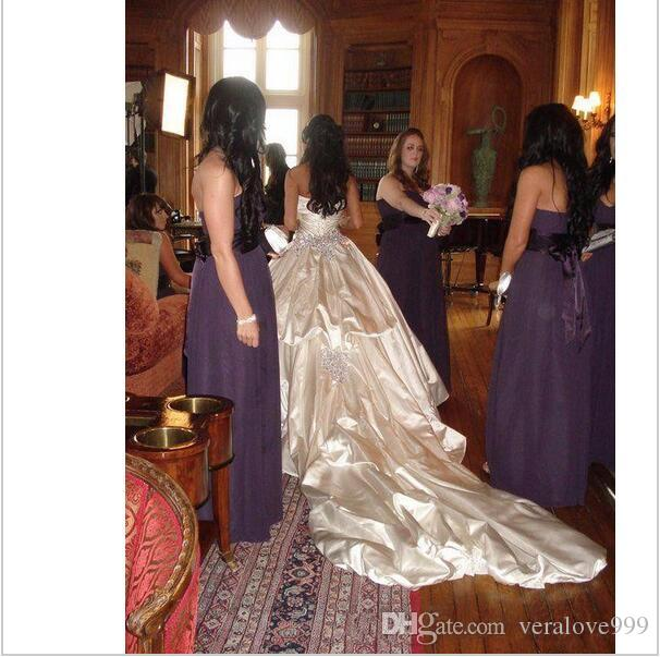 Ivory Bling Pnina Tornai Wedding Dresses Sweetheart Ball Gowns Sparkly Crystal Backless Chapel Long Train Bridal Gowns Cheap Wedding Gowns