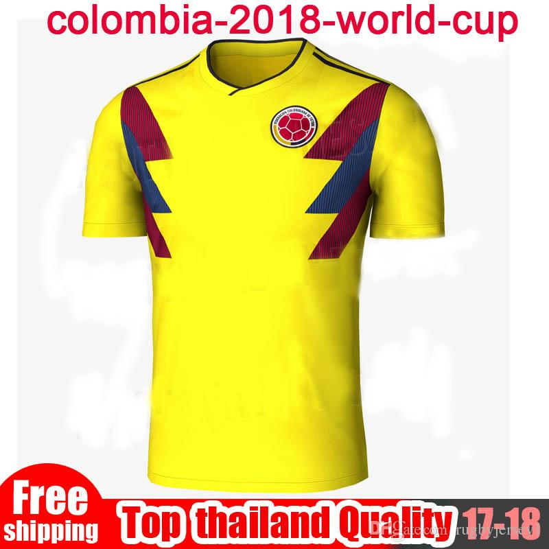2019 Top THailand Quality COLOMBIA 2018 WORLD CUP HOME KIT 18 19 COLOMBIA  National Team Home Away Soccer Jersey FALCAO JAMES Football Shirts From ... e8be2d98c