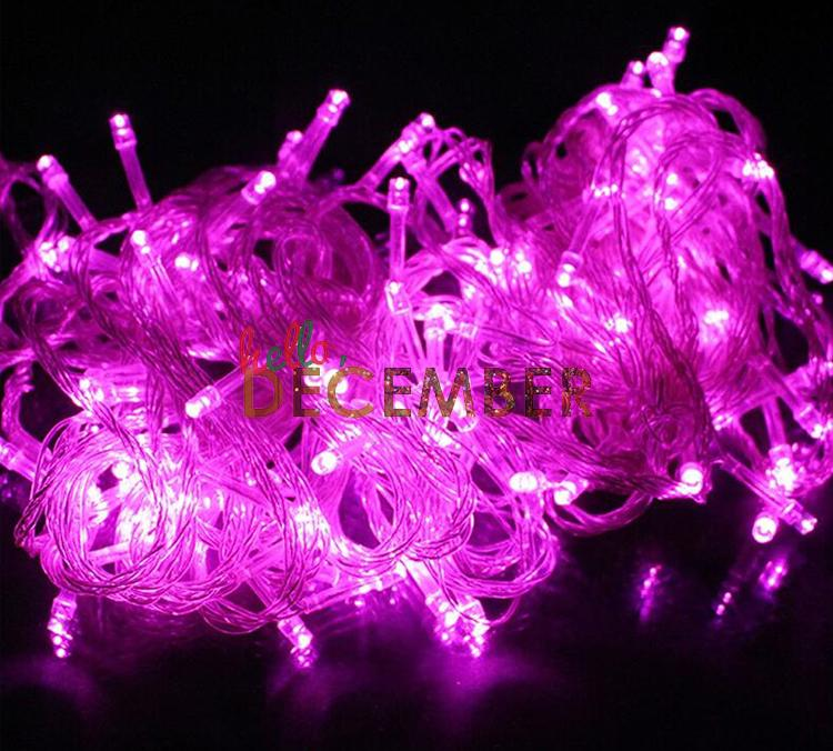 10M-100 LEDs 20M-200 LEDs LED String Lights RGB Blue Red Green Pink Purple Warm / Cool White 8-Modes Holiday Lighting LED Light Strings