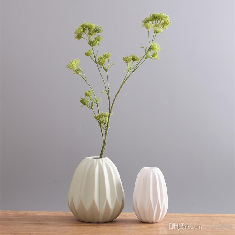 家の装飾の植木鉢プランターの紙の表面の花花瓶セラミックポット装飾的な花瓶結婚披露宴の鍋庭の装飾