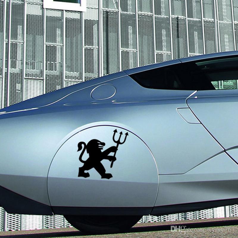 Hot Sale Lion Scratched Bumper Vinyl Decal Paper Car Stickers Car Styling For Peugeot Car Accessories Decor Jdm