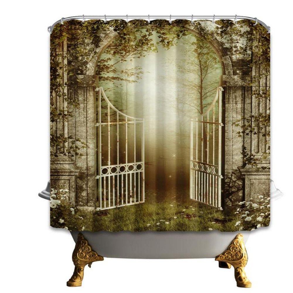 Cheap Digital Printing Waterproof Shower Curtains Liner 180*180cm ...