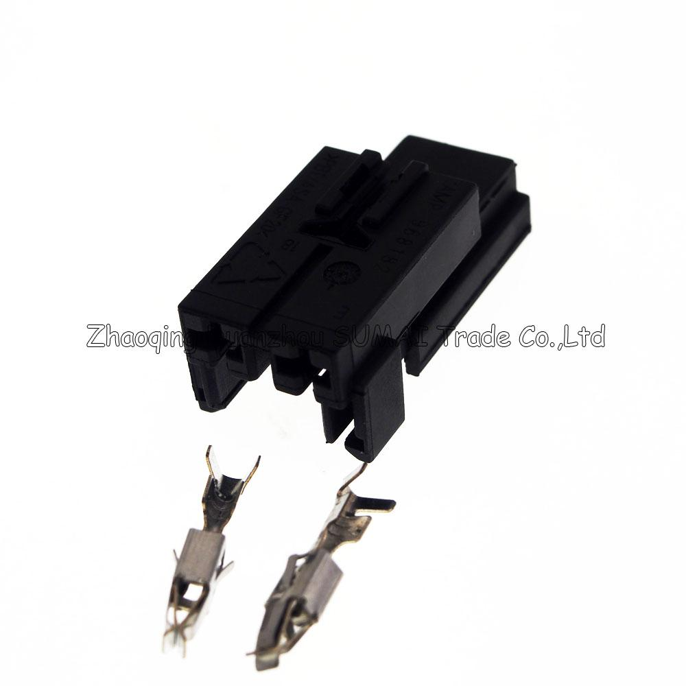 2Pin female auto motor plug,TE/AMP 968182-1,automobile ventilation seat modification,wiring harness sheat for BOSCH connector