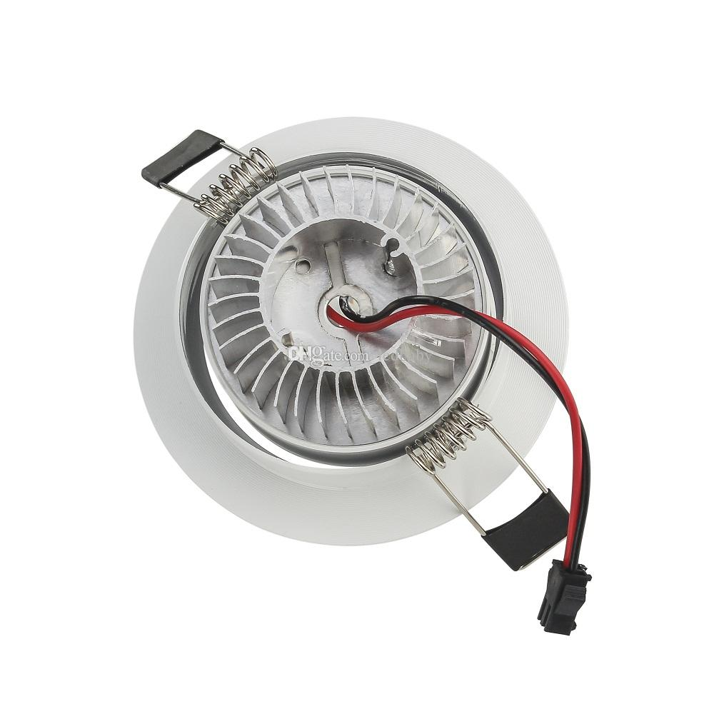 3W Empotrable LED Downlight AC110V / 220V Blanco Shell Baño Cocina Iluminación interior Spot LED Accesorios de luz Led para el hogar