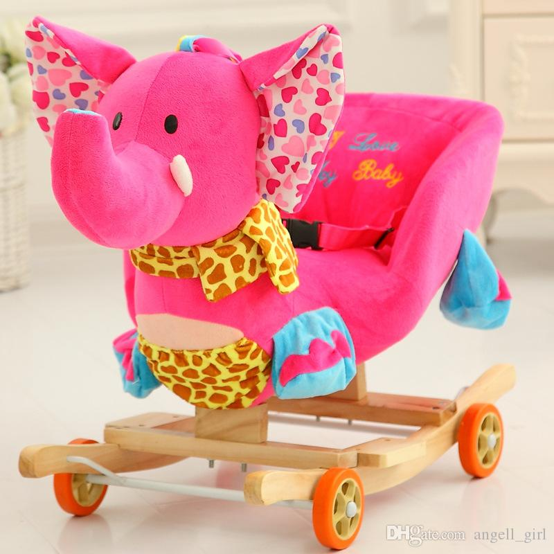 2019 Plush Toy Lovely Animals Rocking Horse Creative Gift Small